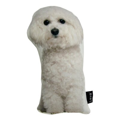 Bichon Puppy Shaped Indoor/Outdoor Lumbar Pillow