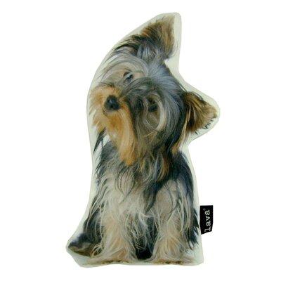 Yorkie Puppy Shaped Indoor/Outdoor Lumbar Pillow