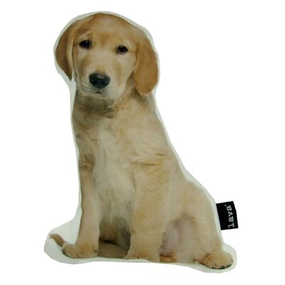 Golden Retriever Puppy Shaped Indoor/Outdoor Throw Pillow