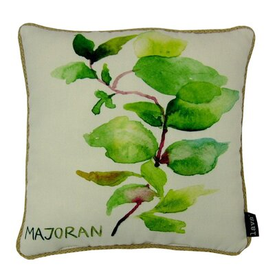 Marjoran Synthetic Fabric Throw Pillow