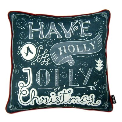 Holly Jolly Indoor/Outdoor Throw Pillow
