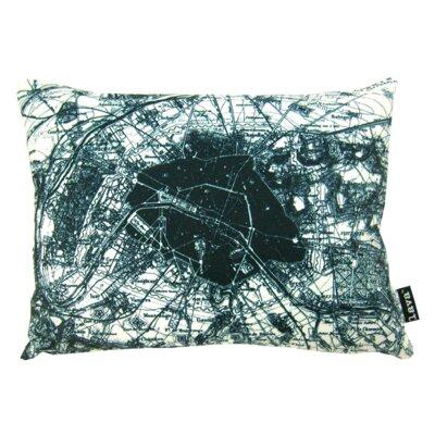 Old Paris Map Lumbar Pillow