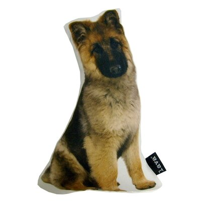 German Shepherd Puppy Shaped Indoor/Outdoor Throw Pillow