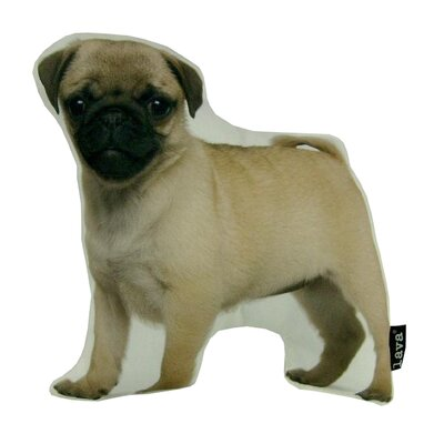 Pug Puppy Shaped Indoor/Outdoor Lumbar Pillow