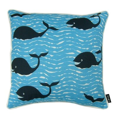 Whales Indoor/Outdoor Throw Pillow