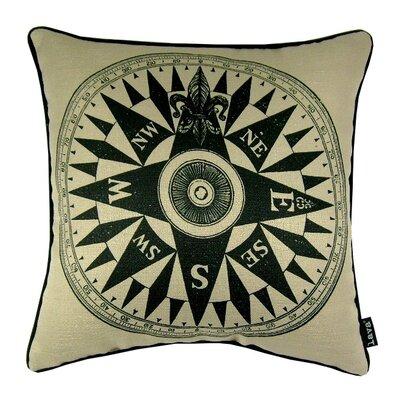 Compass Indoor/Outdoor Throw Pillow