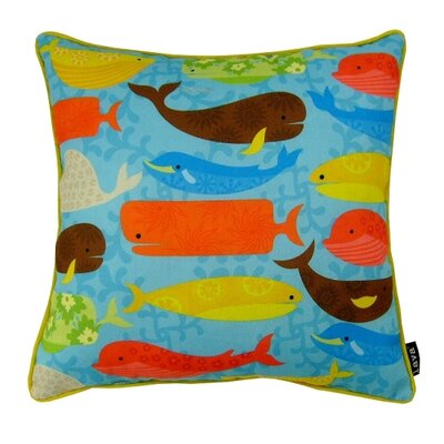 Many Whales Indoor/Outdoor Throw Pillow