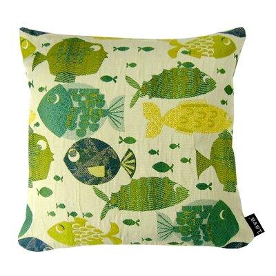 Lemon Lime Fish Throw Pillow