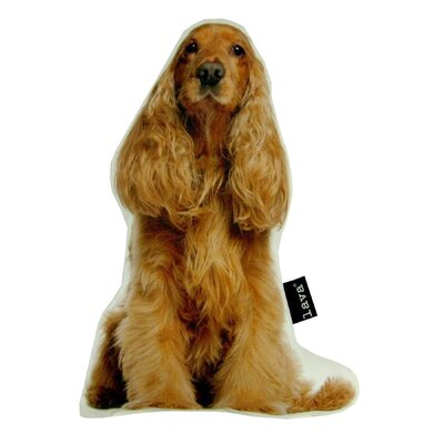 Spaniel Puppy Shaped Indoor/Outdoor Throw Pillow