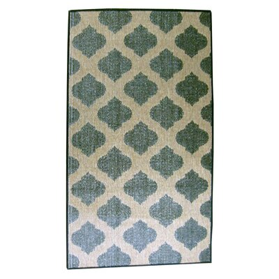 Tile Charcoal/Brown Indoor/Outdoor Area Rug Rug Size: 37 x 57