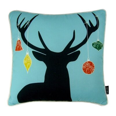 Holiday Deer Indoor/Outdoor Throw Pillow