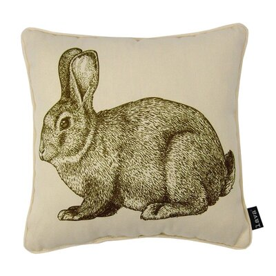 Bunny Eng Throw Pillow