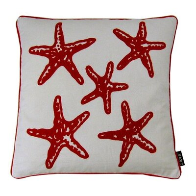 Star Fish Red Throw Pillow