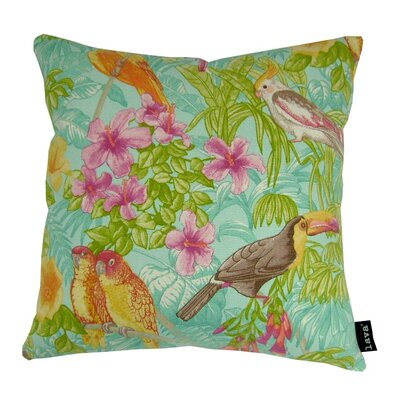 Tropical Oasis Cotton Throw Pillow