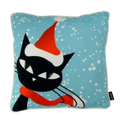 Holiday Cat Indoor/Outdoor Throw Pillow