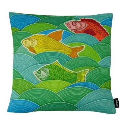 Fish Surf Throw Pillow