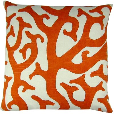 Cotton Throw Pillow Color: Coral
