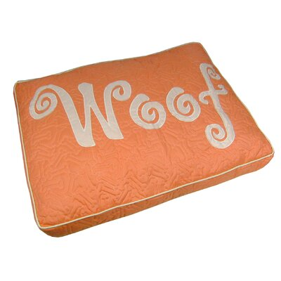 Woof Boxed Pet Bed Color: Coral