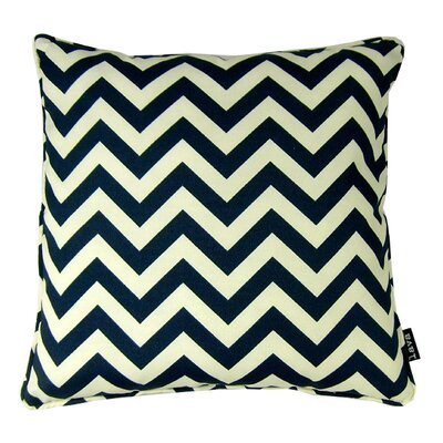 Chevron Indoor/Outdoor Throw Pillow Color: Night