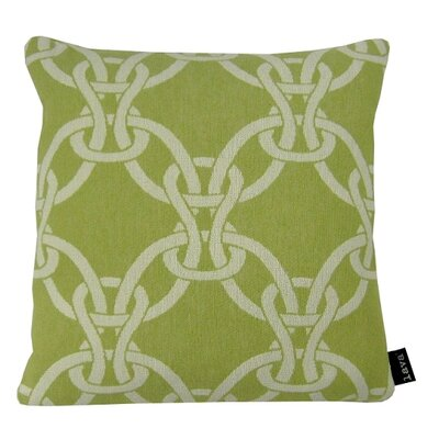 Linked Throw Pillow Color: Blue