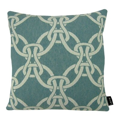 Linked Throw Pillow Color: Green