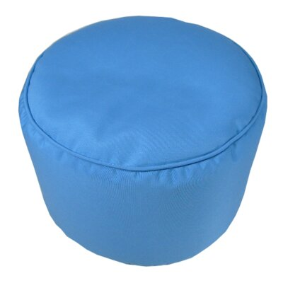 Sunbrella Round Pouf Ottoman Upholstery: Capri