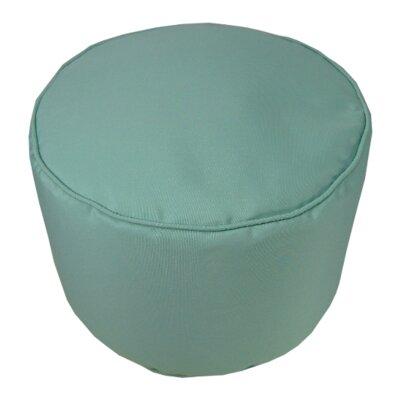 Sunbrella Round Pouf Ottoman Upholstery: Glacier