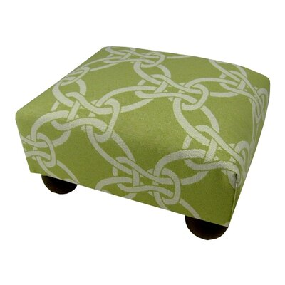 Linked Ottoman Upholstery: Green