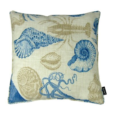 Sea Indoor/Outdoor Throw Pillow Color: Blue