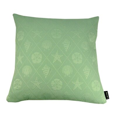 Shell Throw Pillow Color: Aqua