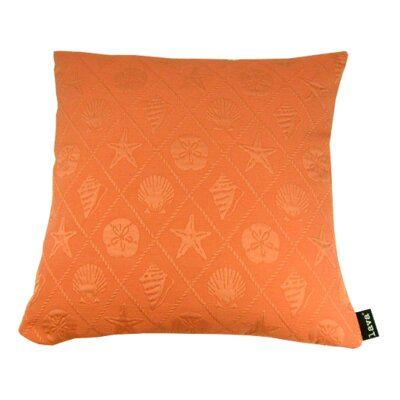 Shell Throw Pillow Color: Coral