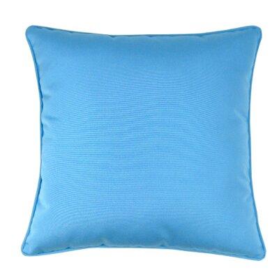 Indoor/Outdoor Sunbrella Throw Pillow Color: Capri