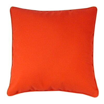 Bellevue Indoor/Outdoor Sunbrella Throw Pillow Color: Logo Red