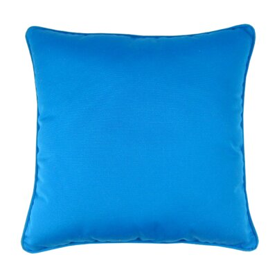 Bellevue Indoor/Outdoor Sunbrella Throw Pillow Color: Pacific Blue