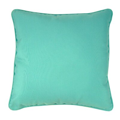 Indoor/Outdoor Sunbrella Throw Pillow Color: Aruba