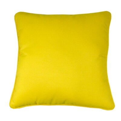Indoor/Outdoor Sunbrella Throw Pillow Color: Sunflower Yellow