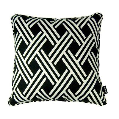 Fresco Indoor/Outdoor Throw Pillow Color: Black