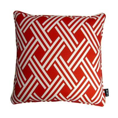 Fresco Indoor/Outdoor Throw Pillow Color: Red