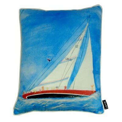 Painted Sailboat Indoor/Outdoor Lumbar Pillow