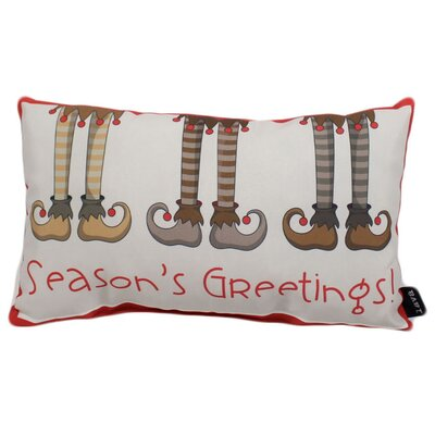 Seasons Greetings Outdoor Lumbar Pillow