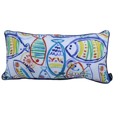 Valle Fish Outdoor Lumbar Pillow