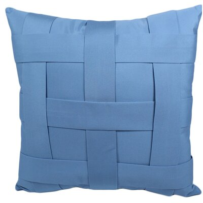Webster Outdoor Throw Pillow Color: Mineral Blue