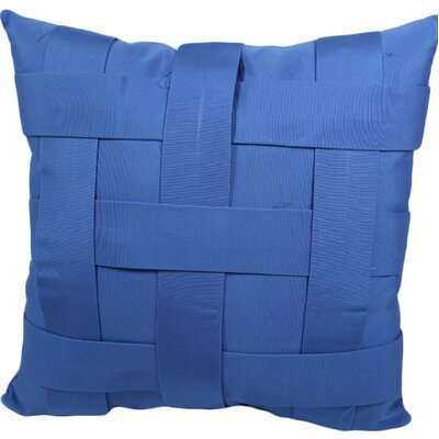 Webster Outdoor Throw Pillow Color: Sky Blue