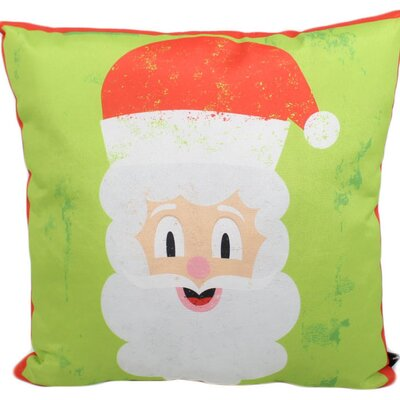Santa Outdoor Throw Pillow
