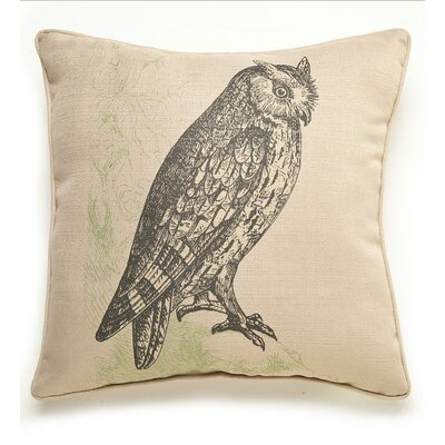 Owl Etching Throw Pillow