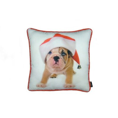 Holiday Bulldog Puppy Pillow