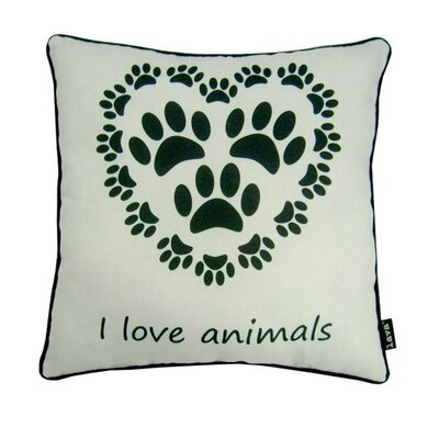 Love Animals Indoor/Outdoor Throw Pillow