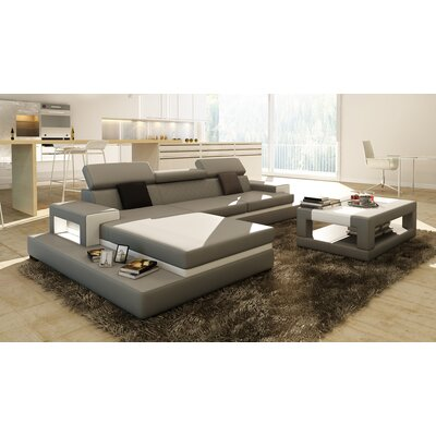 Sophia Sectional Upholstery: Gray, Orientation: Left Hand Facing