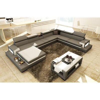 Sophia Sectional Upholstery: Gray