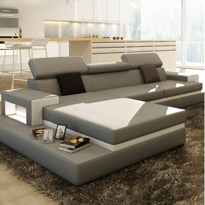 Sophia Sectional Upholstery: Gray